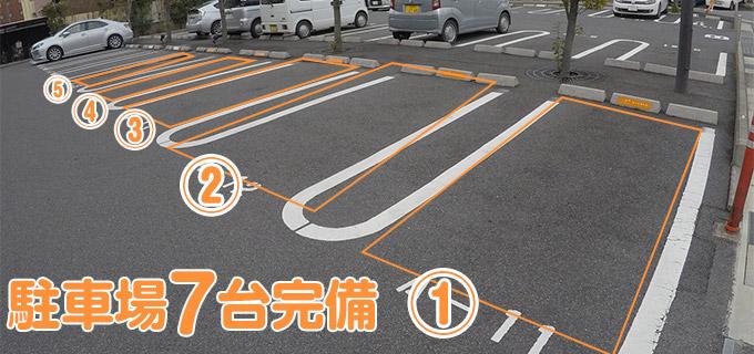 駐車場7台完備