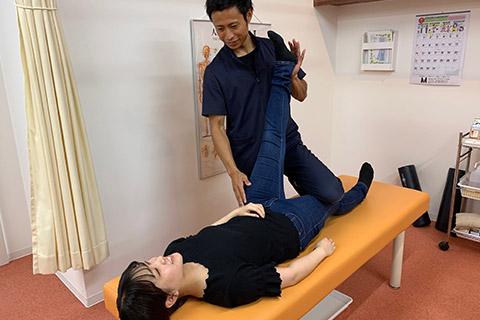 体のチェック(膝痛)